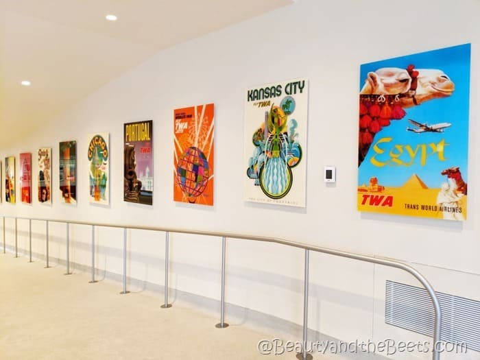 TWA Hotel flight posters Beauty and the Beets