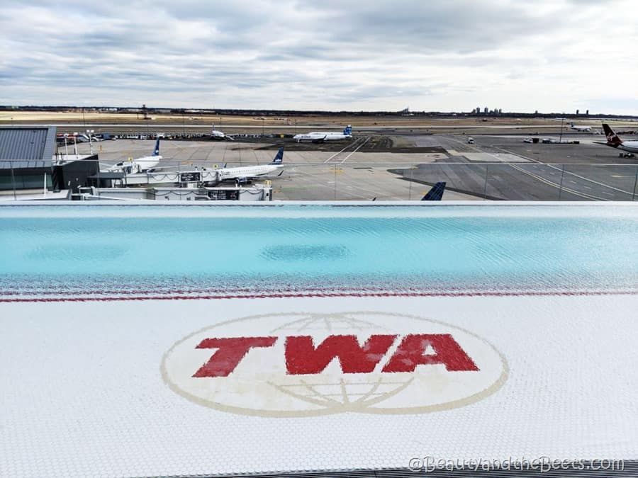 TWA Hotel infinity pool Beauty and the Beets