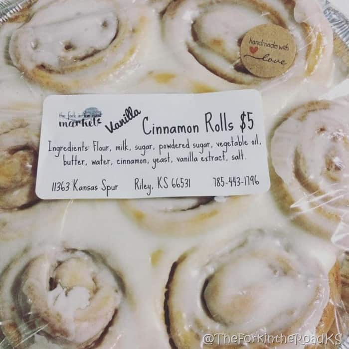 The Fork in the Road cinnamon rolls
