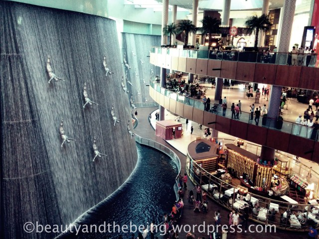 Dubai Mall Water Fall