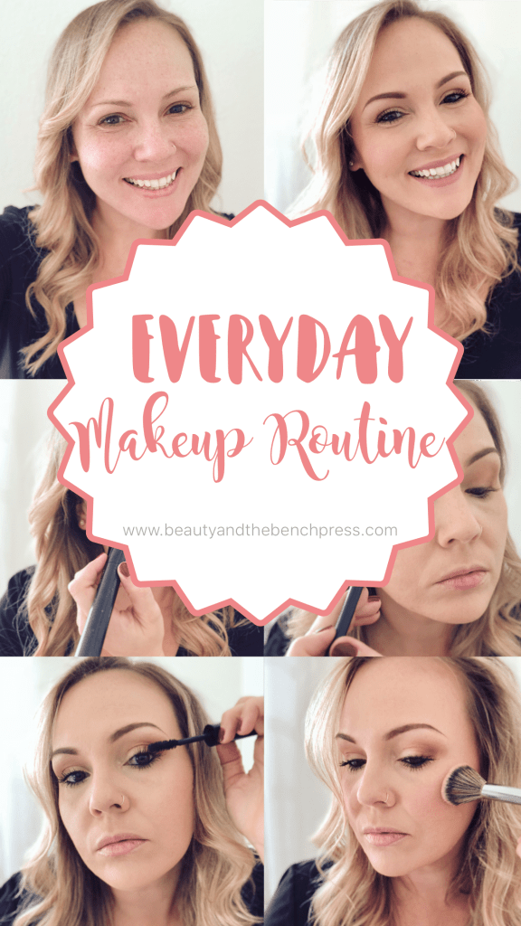 A tutorial of my simple and easy everyday makeup routine. A natural look that gets me out the door quickly on busy mornings while still looking pulled together. #makeuproutine #naturallook #makeup