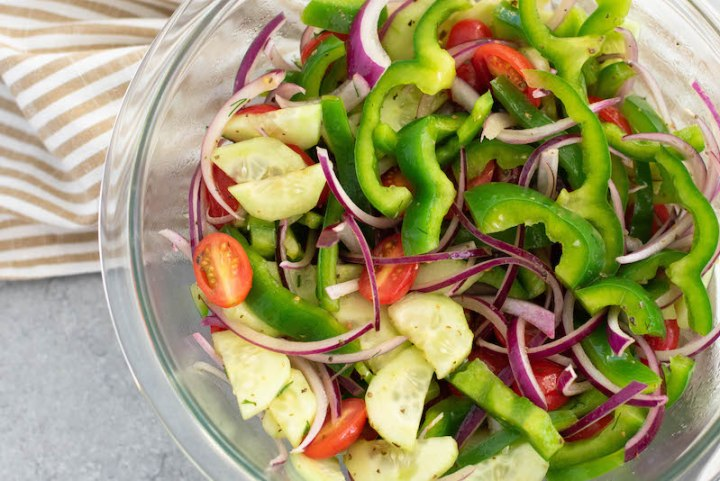 greek salad veggies
