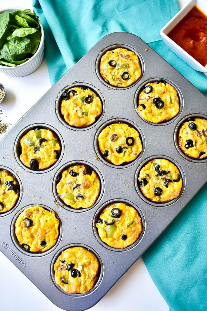 sausage pizza breakfast muffins