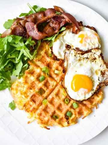 hash brown waffle
