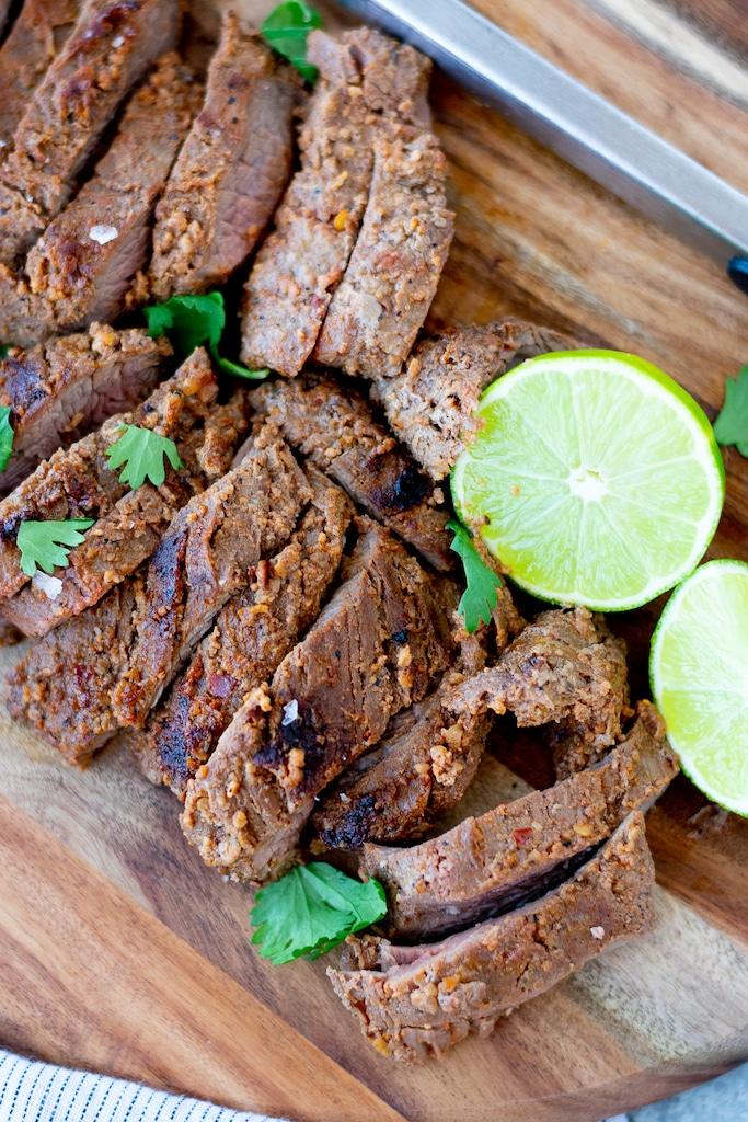 carne asada with lime