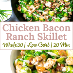 paleo chicken bacon skilet