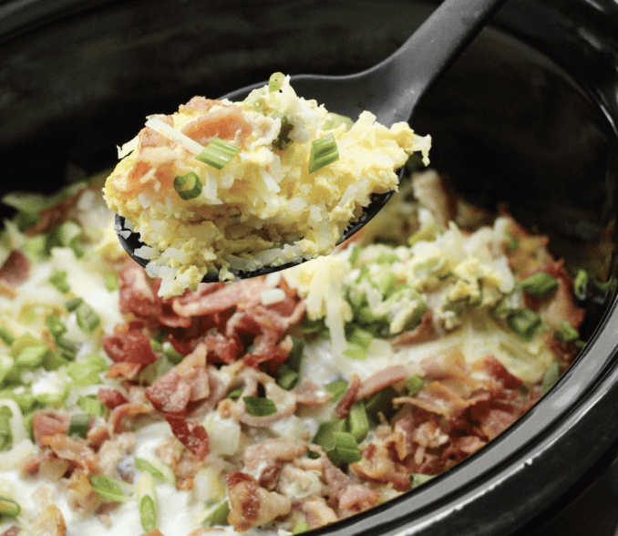 slow cooker egg bake