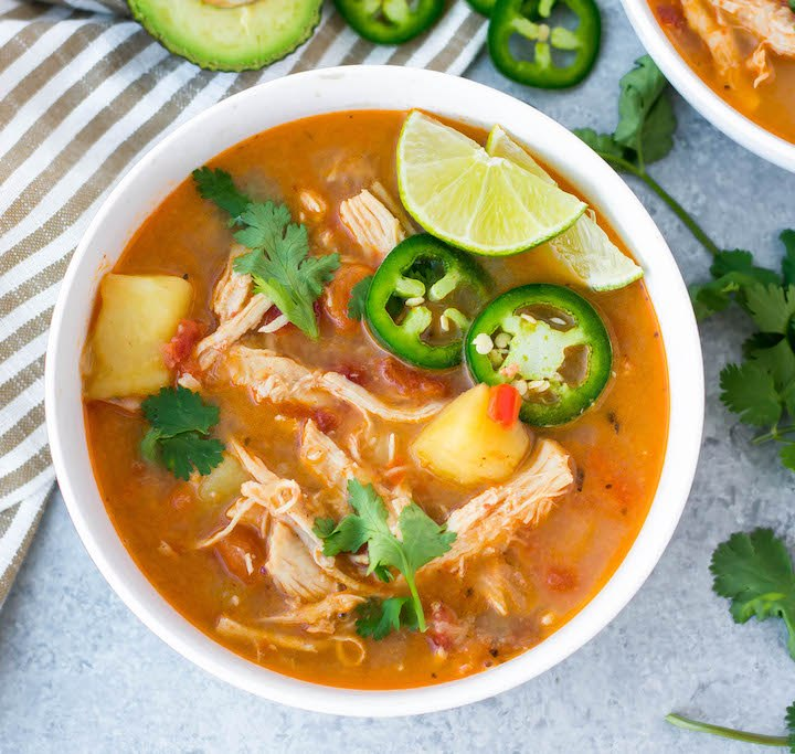 spicy chipotle chicken soup