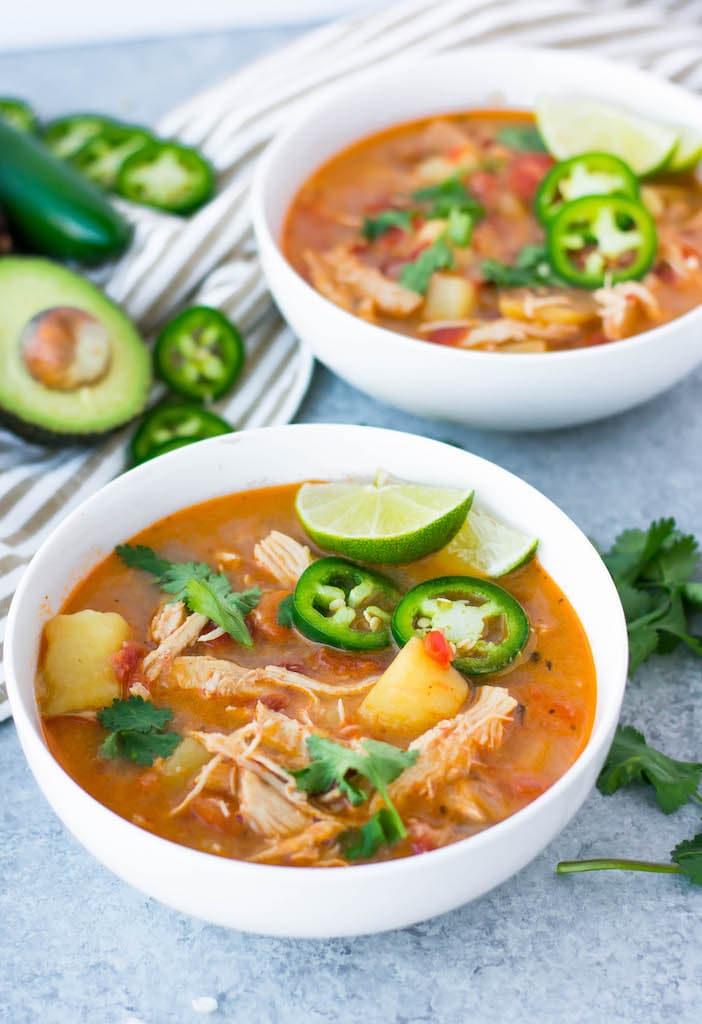 instant pot chipotle chicken soup