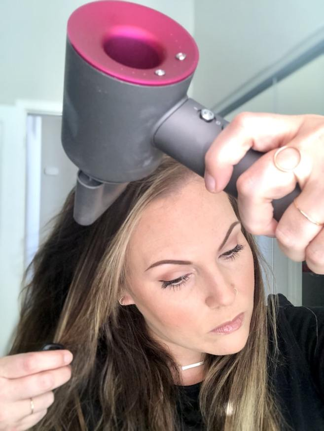 Dyson Supersonic Blow Dryer in Action