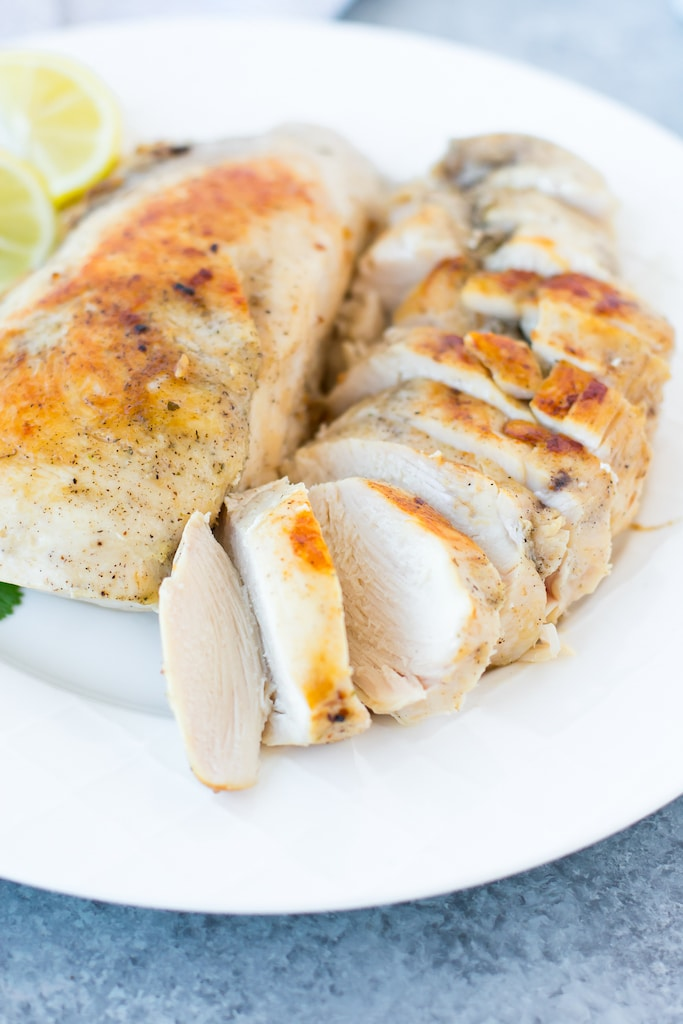 precision cooker chicken breast sliced