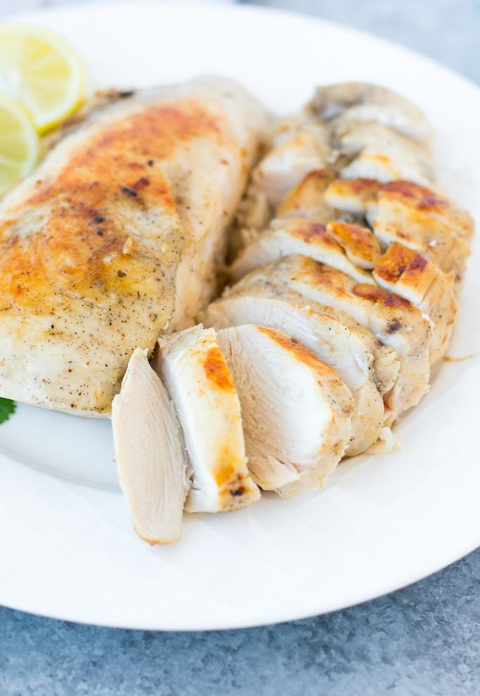 precision cooker chicken breast sliced