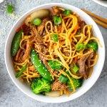gluten-free beef chow mein