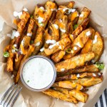 Whole30 Crispy Buffalo Potato Wedges