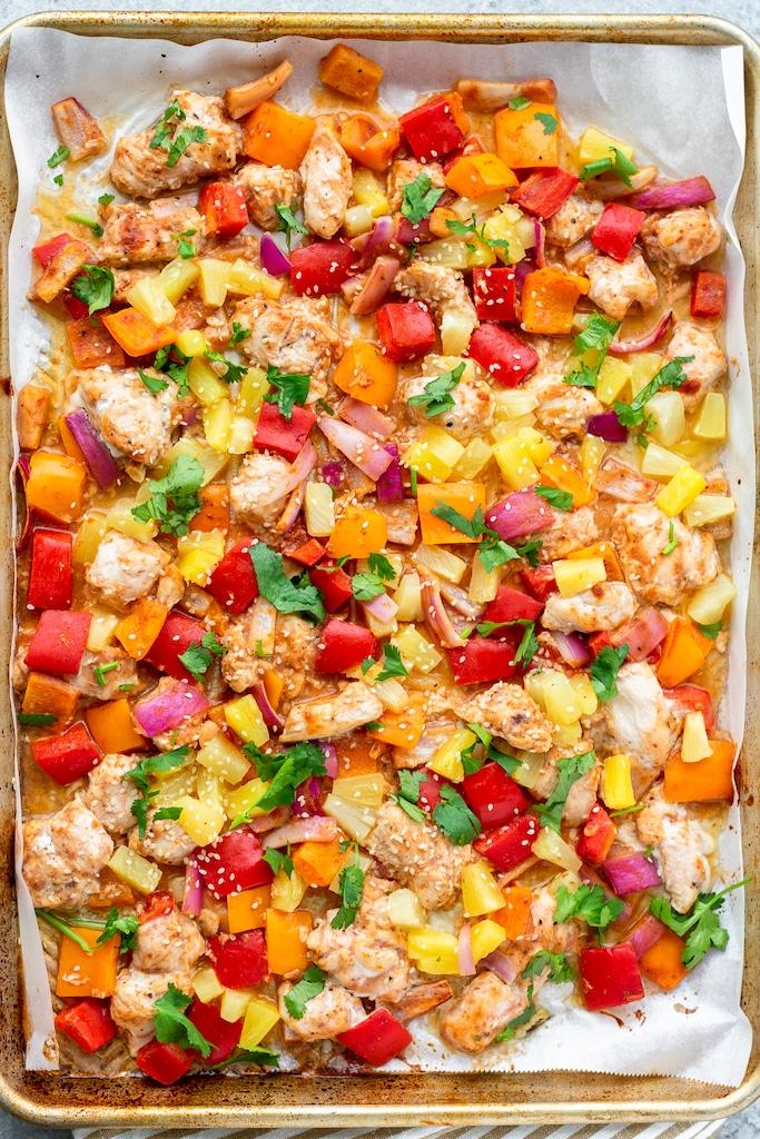 Hawaiian Chicken and veggies