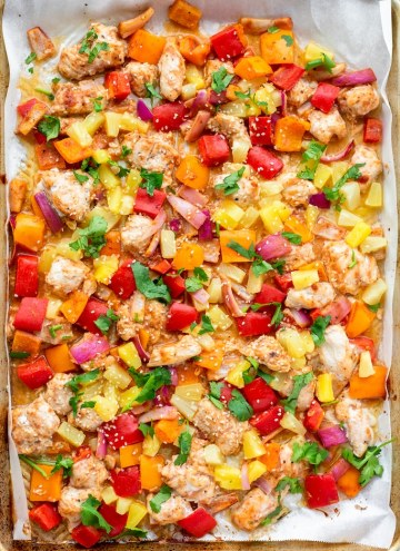 Hawaiian Chicken and veggies