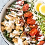 kale Cobb salad with ranch