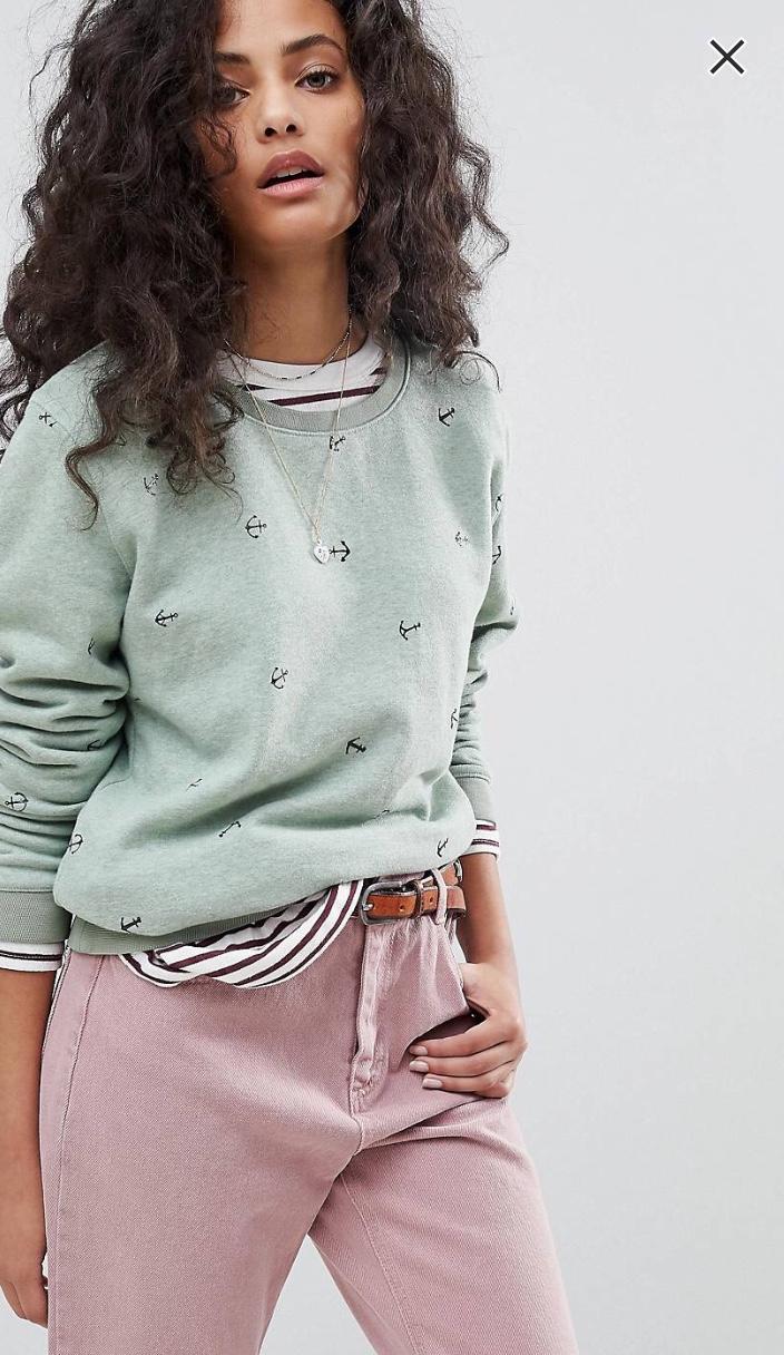 Maison Scotch Basic Sweatshirt With Anchors