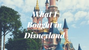 What I Bought in Disneyland