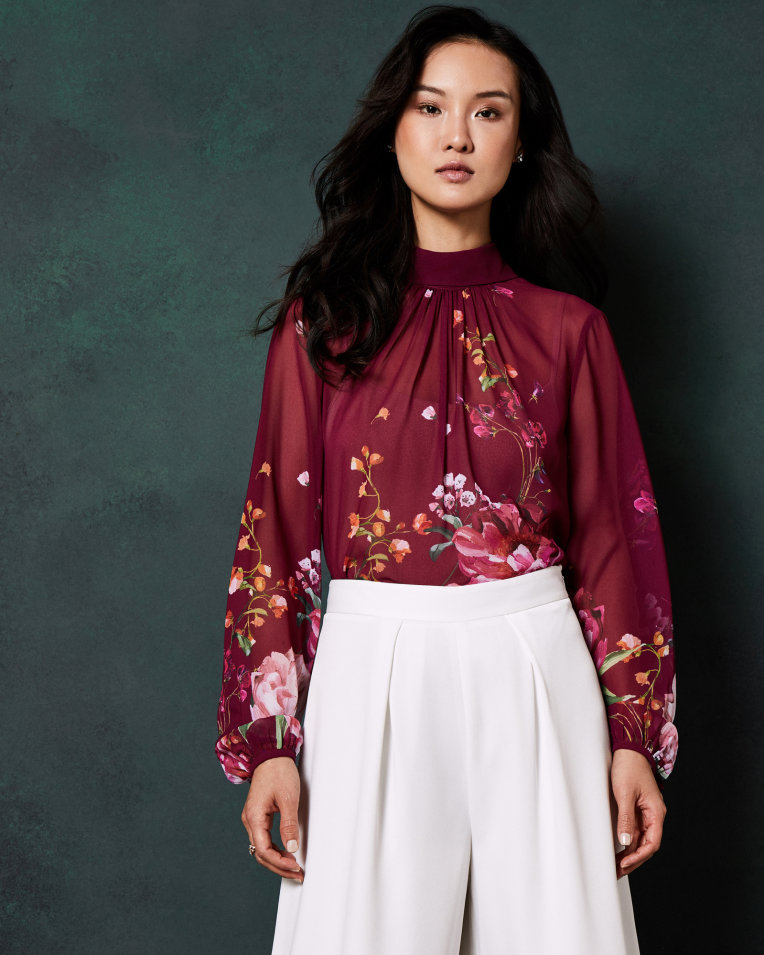 NAALAH Serenity high neck blouse