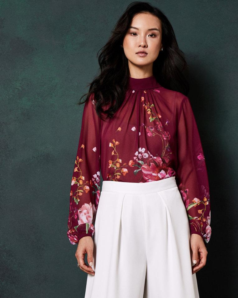 NAALAH Serenity high neck blouse