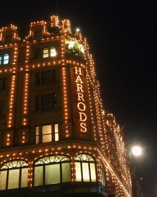Harrods, birthday weekend