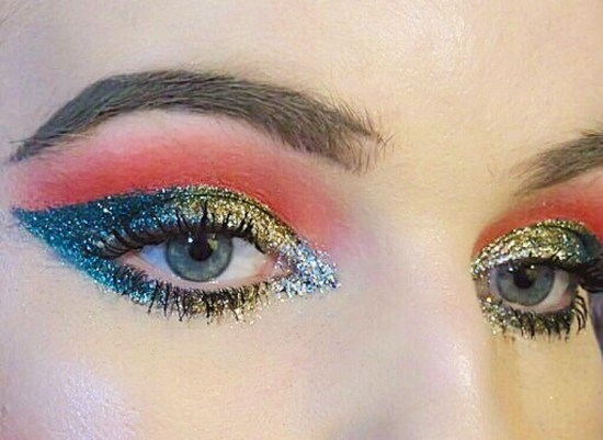 Glitter Glam Christmas Makeup