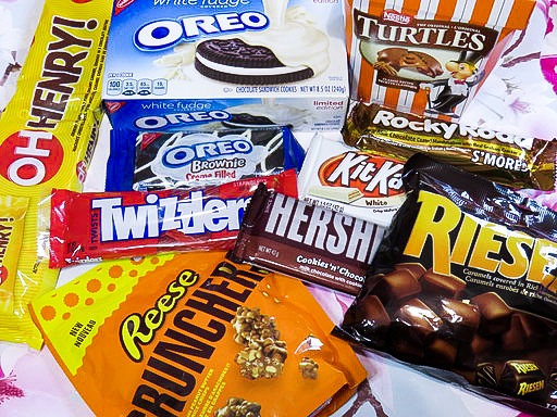British People try American Sweets