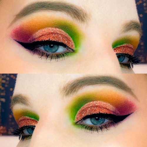 Autumn Leaves inspired makeup
