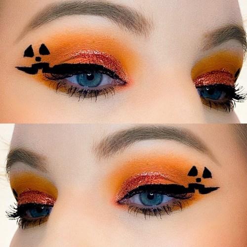 Cute Pumpkin Halloween Makeup