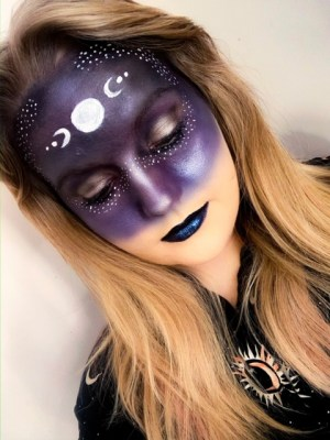 Moon Goddess Halloween Makeup Tutorial