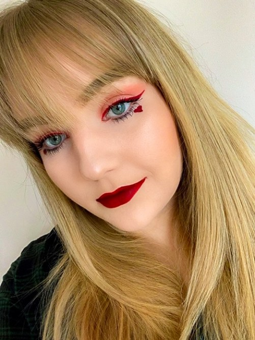 Valentine's Day Heart Makeup Look