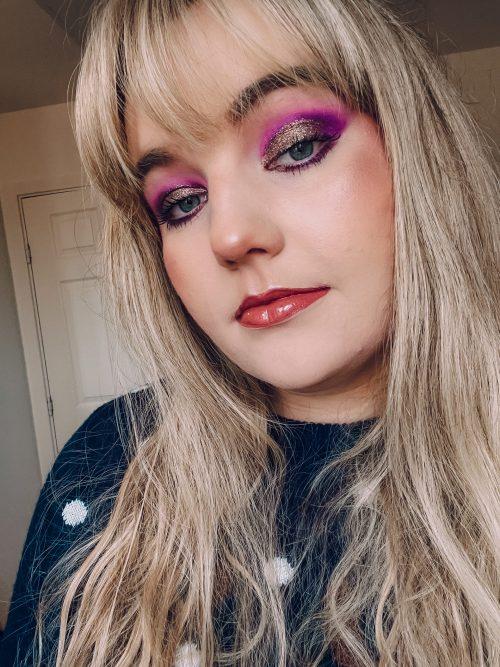 festive glam makeup look