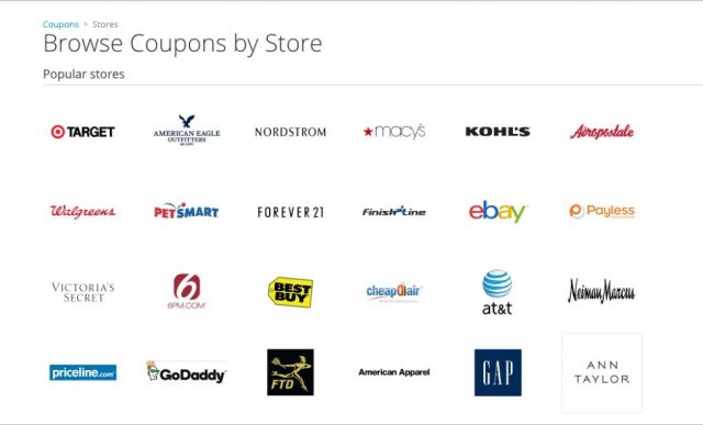 Groupon Coupons Browse by Store