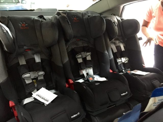 Can you believe it took only 17 minutes to install all 3 of these DIono Radian rXT car seats?! That's from box to car. AMAZING!