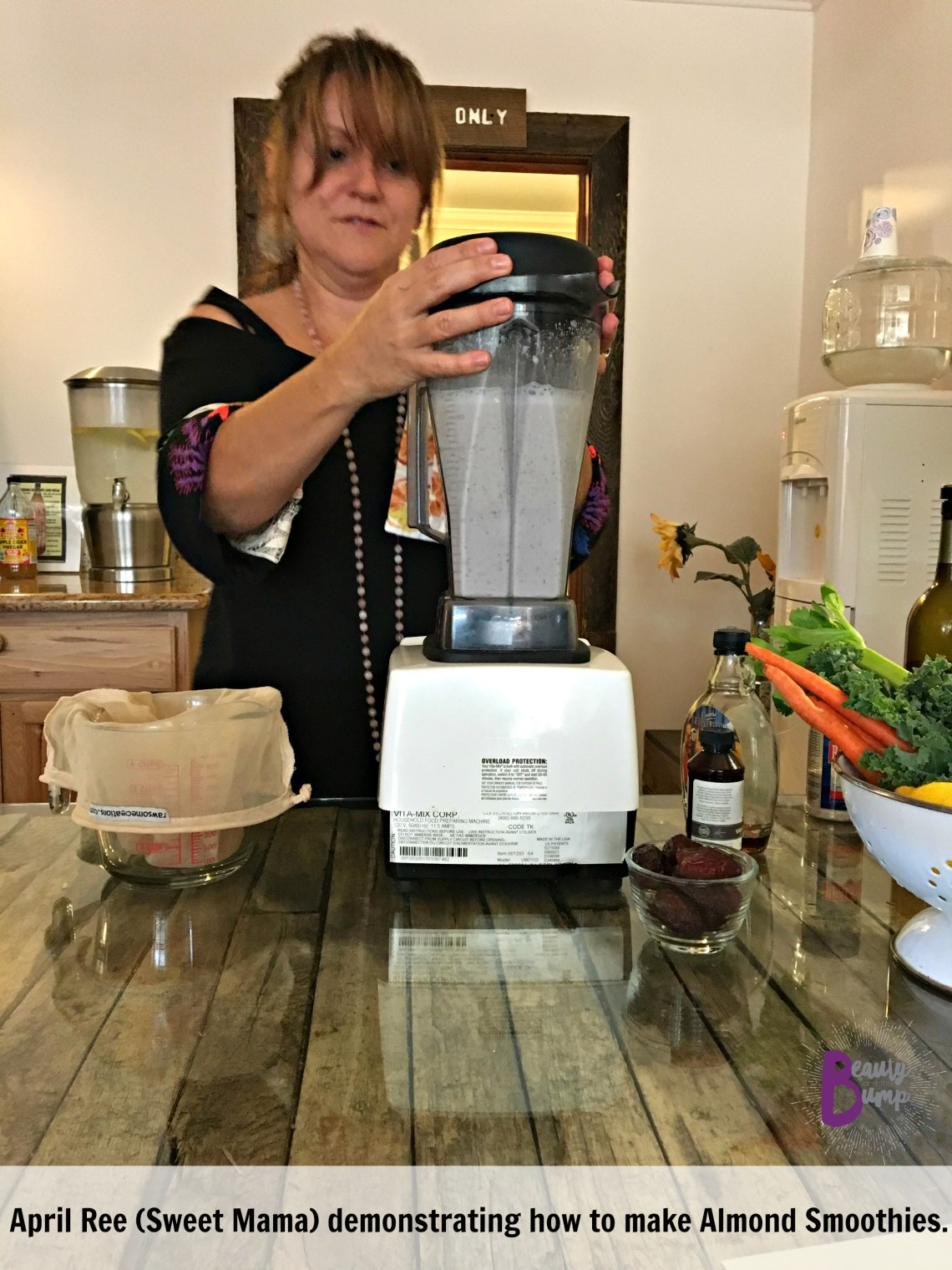 deer-lake-lodge-resort-april-ree-making-almond-smoothies