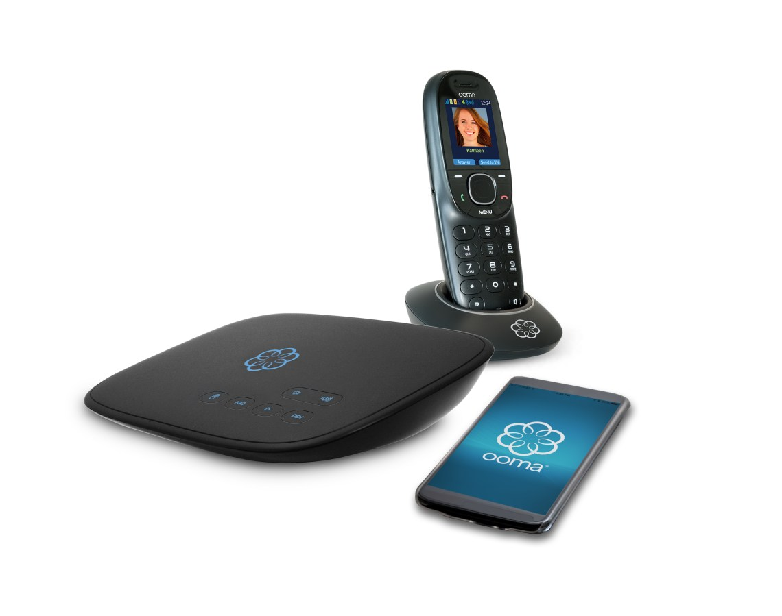 Ooma Telo & Handset for home safety during Holiday Travel