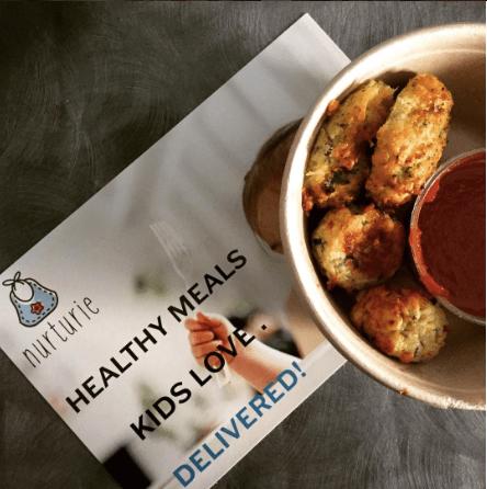 Nurturie Turkey Meatballs & Broccoli Almond Cheddar bites