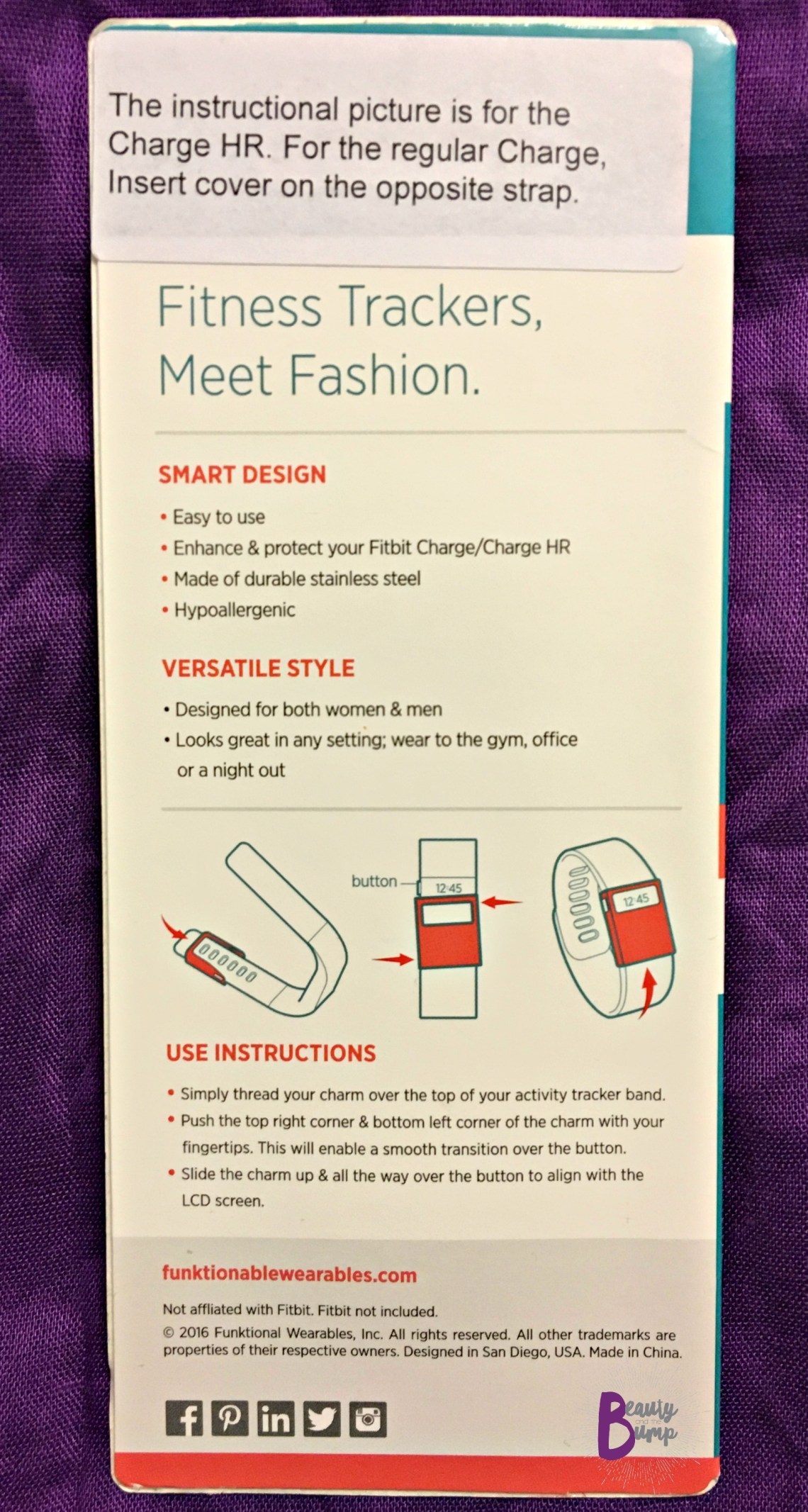 Funktional Wearables Charge HR Instructions