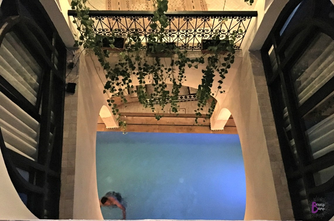 Lina Ryad and Spa view of pool from room