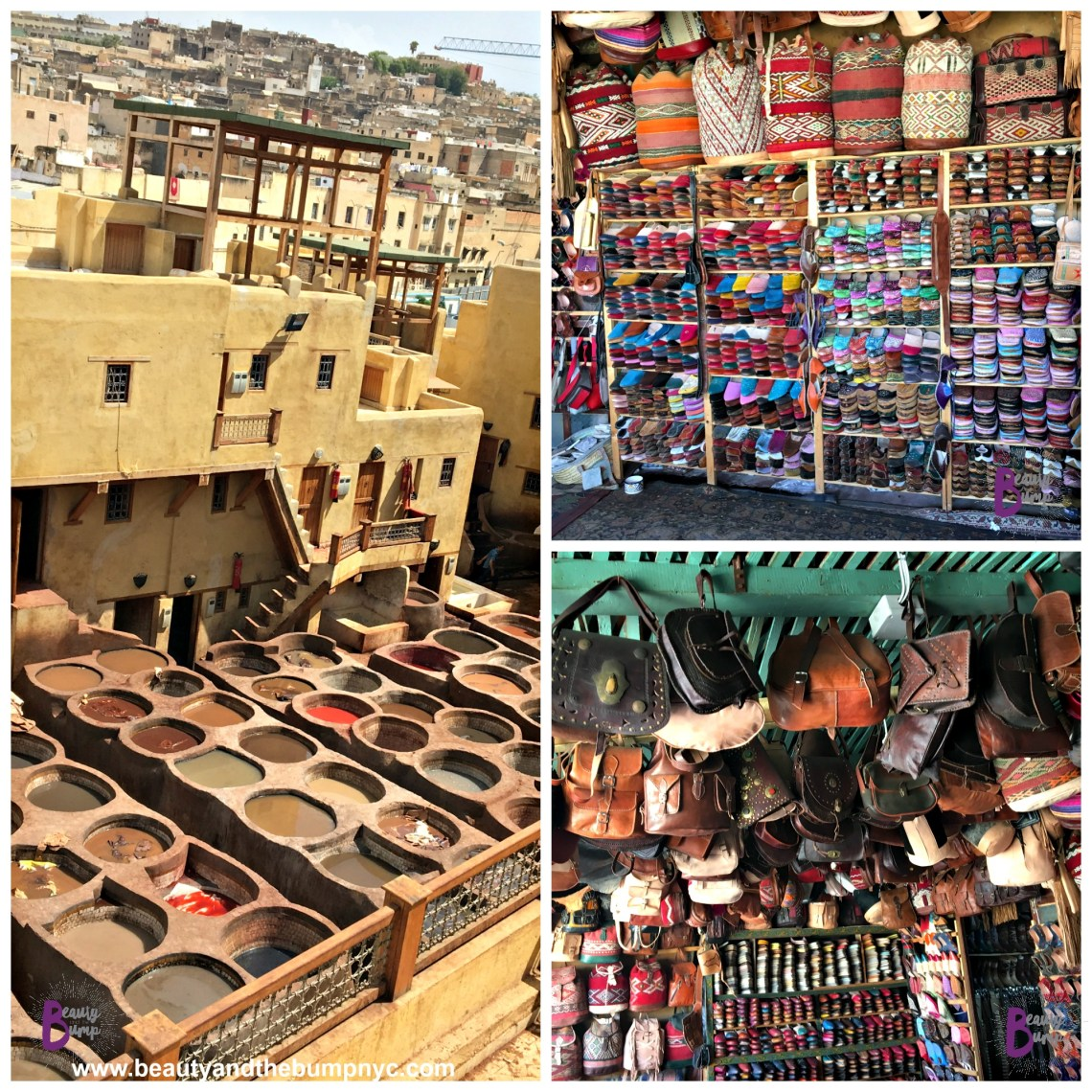 Moroccan Shopping Leather Tannery in Fez