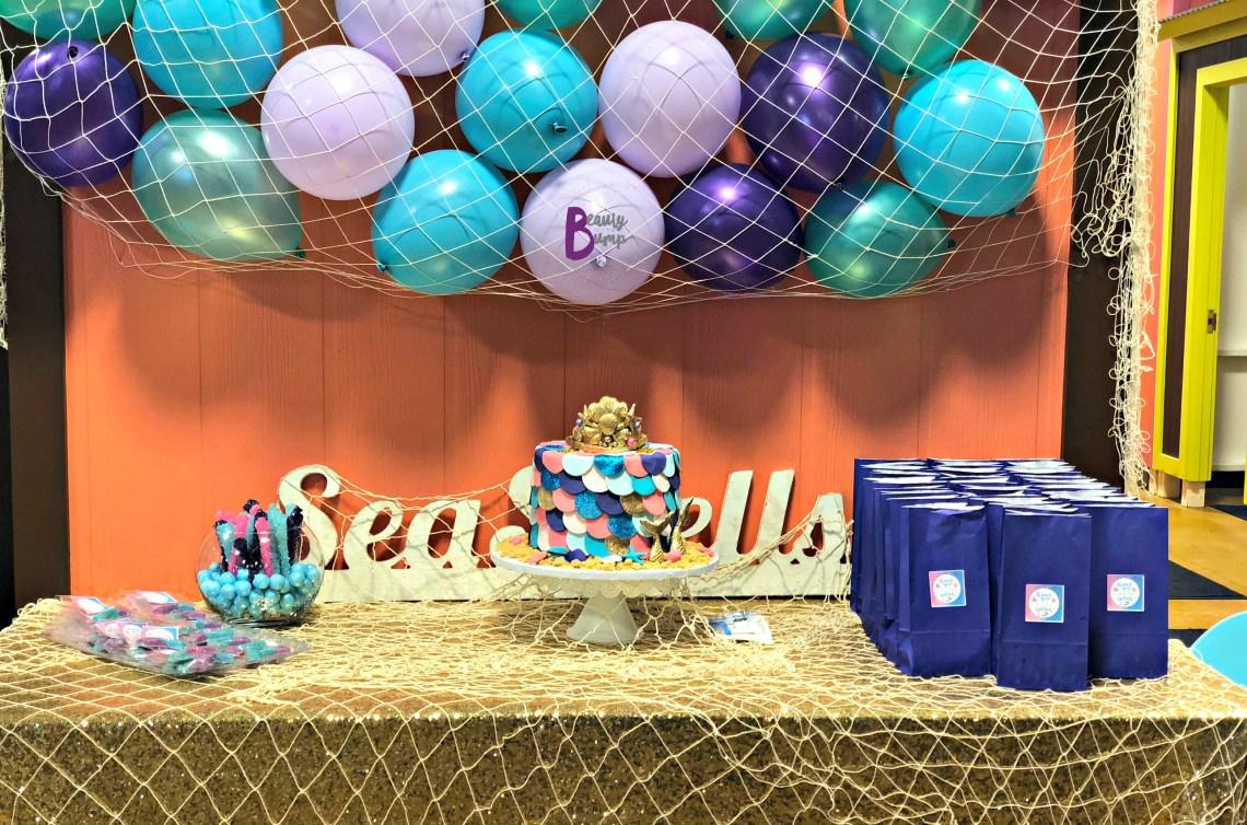 Mermaid Themed Birthday party Goldfish Swim School