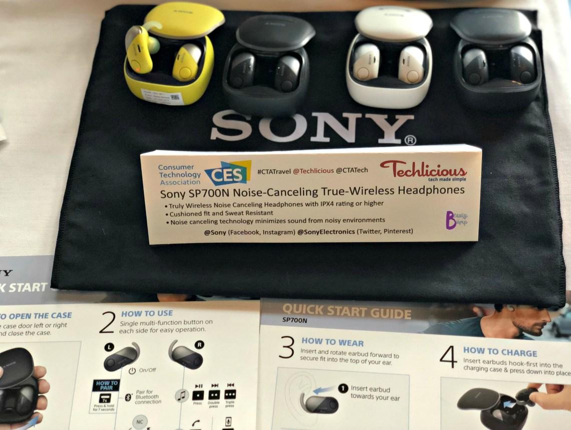 Sony Sp700N Noise-Canceling True-Wireless Headphones Technology That Will Make Travel Easier