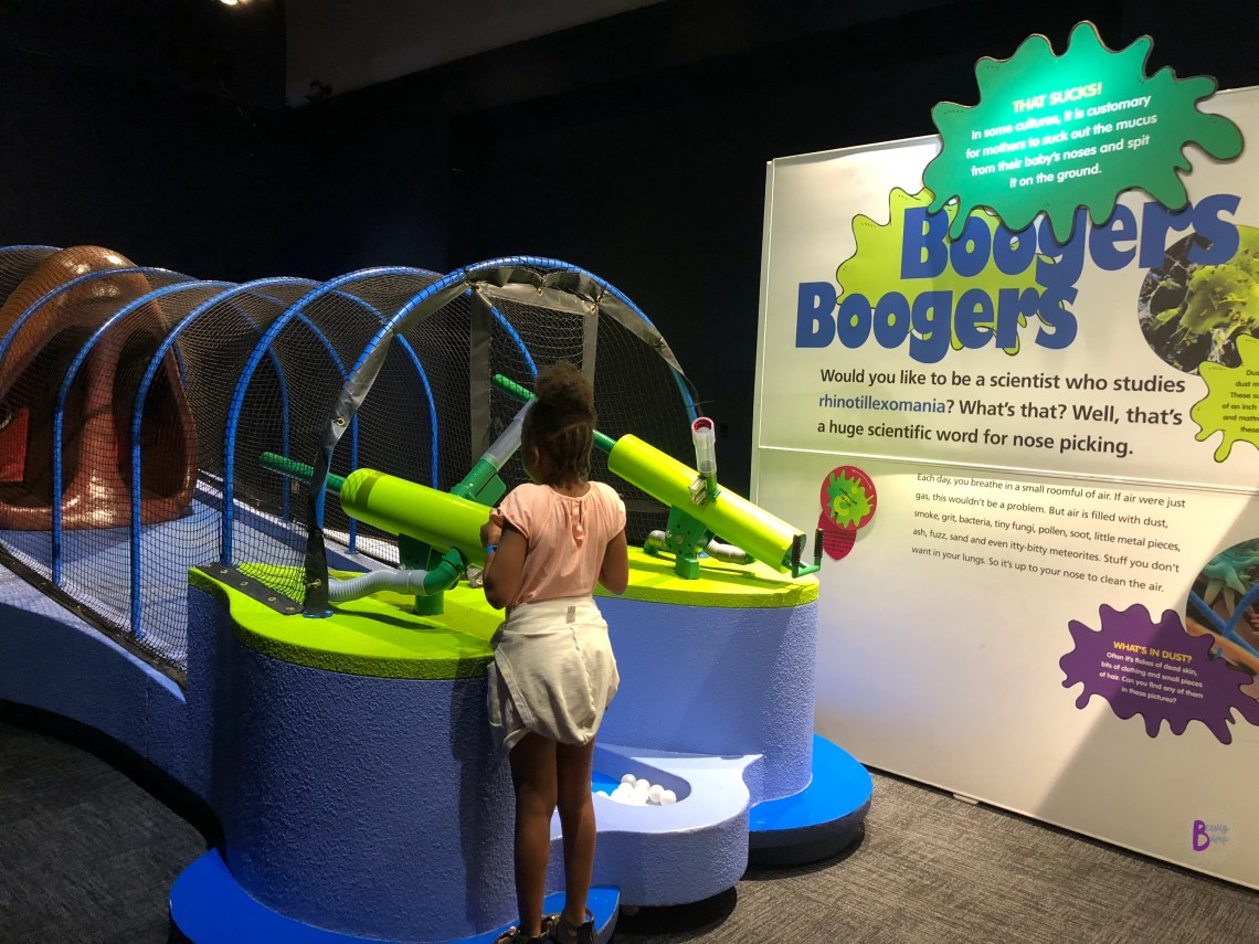 Summertime at Liberty Science Center Grossology Booger