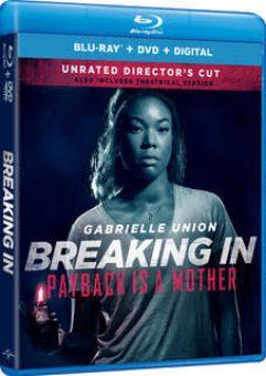 Breaking In Blu Ray DVD