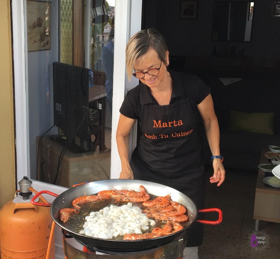 Marta Amb Tu Cuinem Paella Cooking Class Marta Cooking