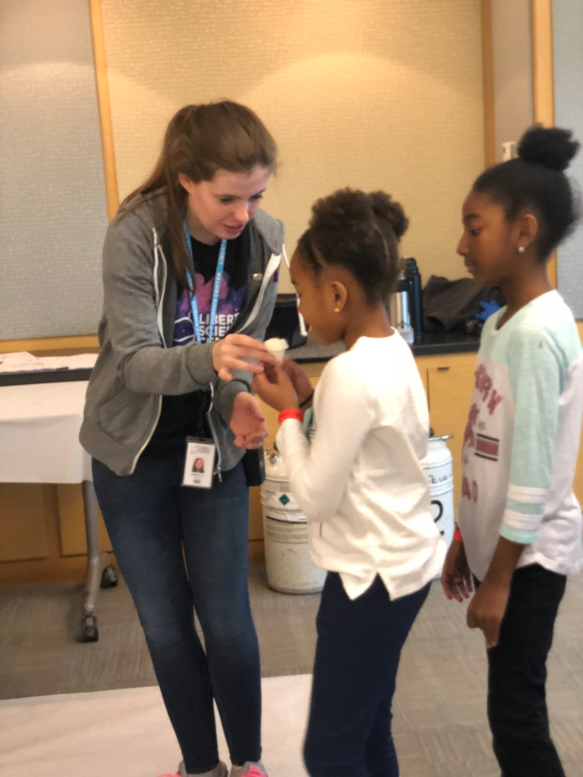 Ice cream making at Liberty Science Center