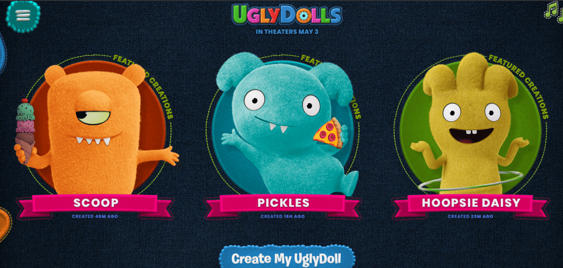 The UglyDolls Factory, a custom tool for fans to design their very own UglyDoll