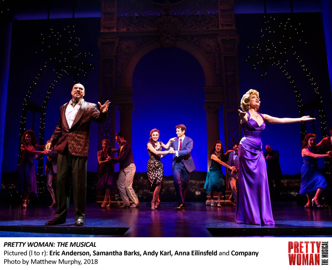I also loved the scene where Mr. Thompson and the bellhop join together to teach Vivian how to dance. It's a lovely scene, and probably one of my favorites from the musical. #PrettyWomanTheMusical