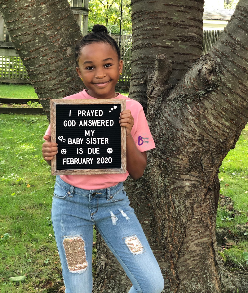 Chloes World of Play I prayed God Answered Pregnancy Announcement Gender Reveal